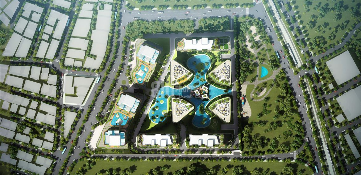 Luxury flats for sale at city center with amazing green area in Istanbul Bahcelievler