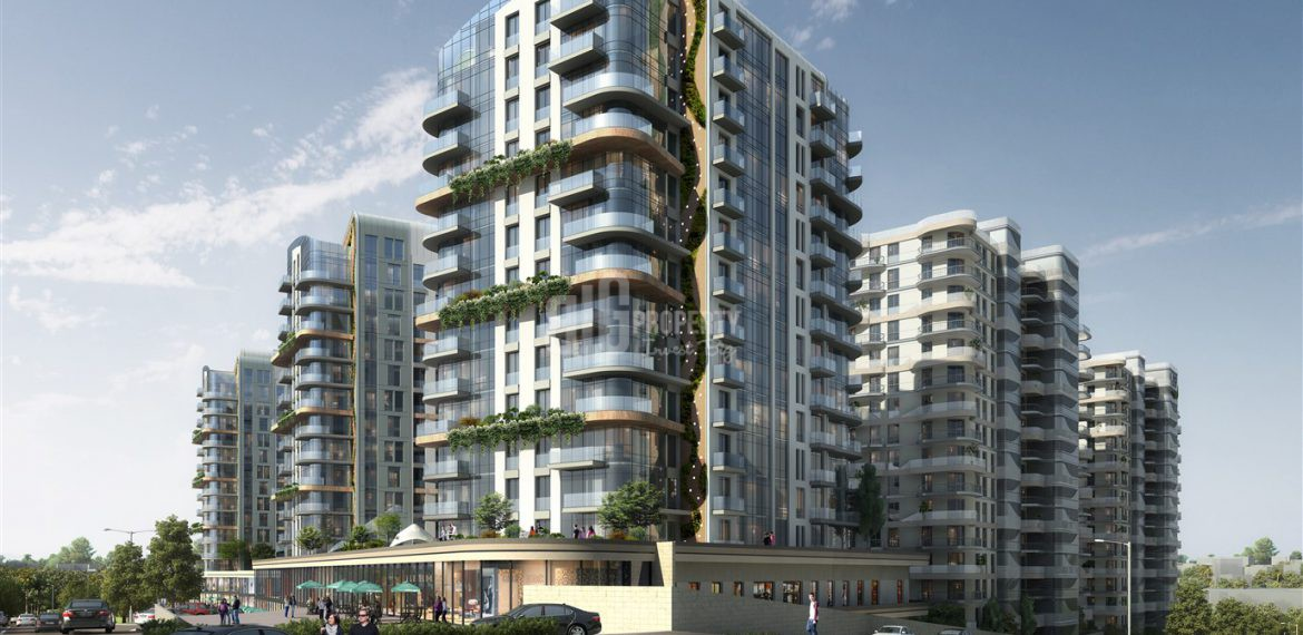 Luxury flats for sale at city center with big green area view in Istanbul Bahcelievler