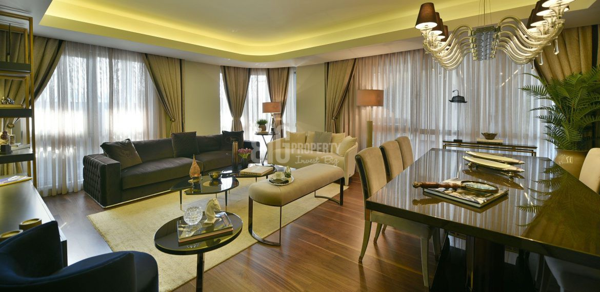 Luxury flats for sale at city center with wonderful green area in Istanbul Bahcelievler