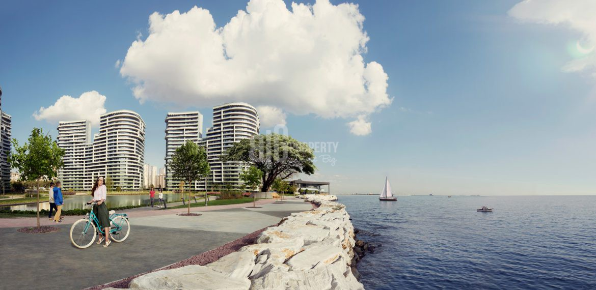 Luxury flats for sale with horizon sea view in Istanbul Atakoy