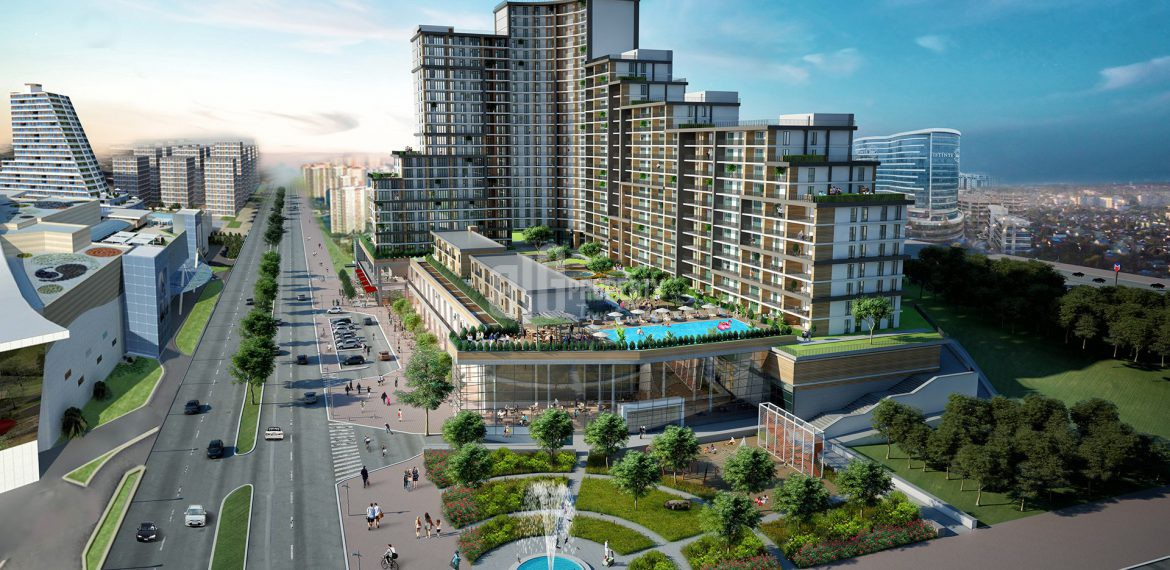 Next Level apartments beside big shopping mall for sale in Bahcesehir Istanbul