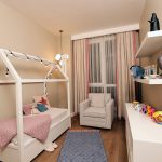 child room of sample apartments azur marmara