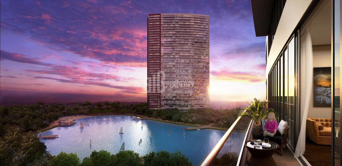 huge properties has got shopping mall and lake in for sale Bahcesehir Istanbul