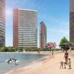 huge real estate has got shopping mall and lake in for sale in Bahcesehir Istanbul