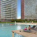 invesments commercial properties has got shopping mall and lake in for sale in Istanbul Bahsesehir