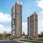 modern architecture luxury flats for sale in Istanbul gunesli