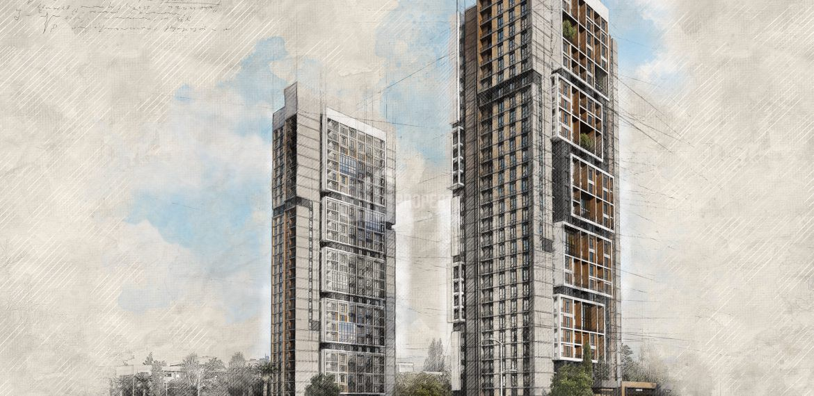 modern architecture luxury flats for sale in Istanbul kucukcekmece