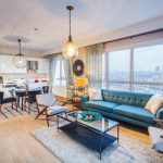 open kicthen living room sample apartment of nurol park residence for sale istanbul