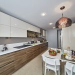 sample apartments kitchen
