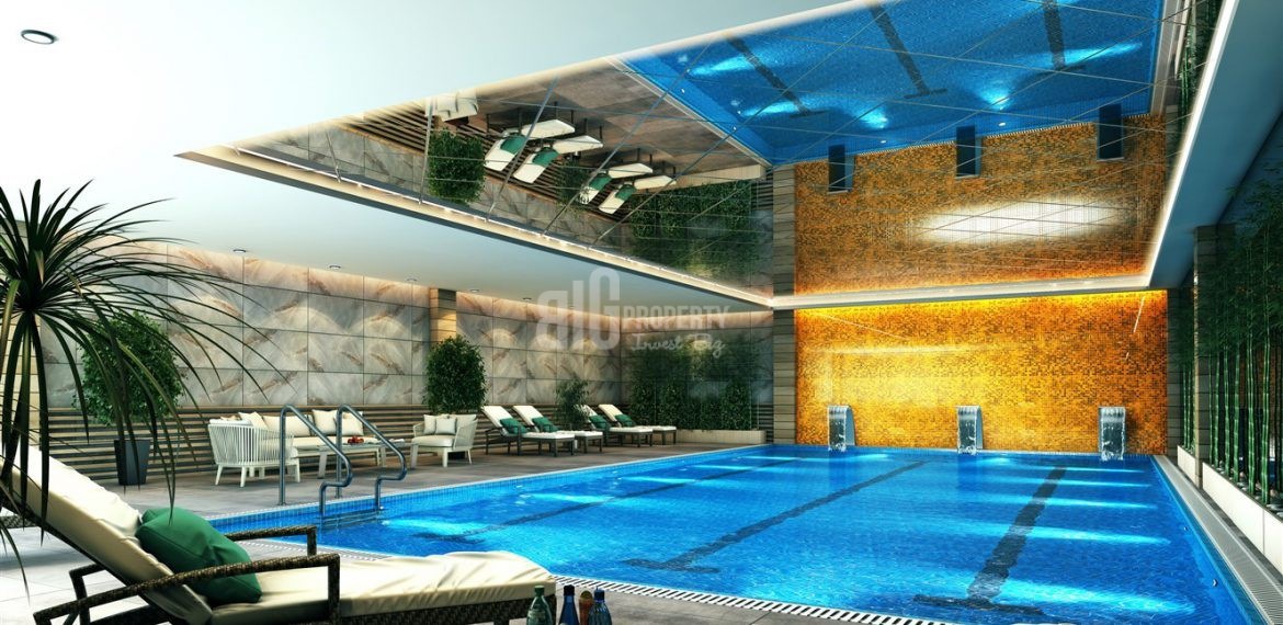 swimming pool of babacan port royal property turkey
