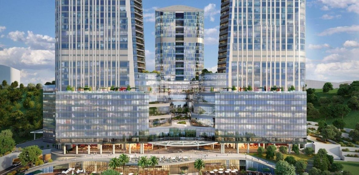 Best opportunity flats for sale with wonderful city view near to highway in Istanbul Maslak