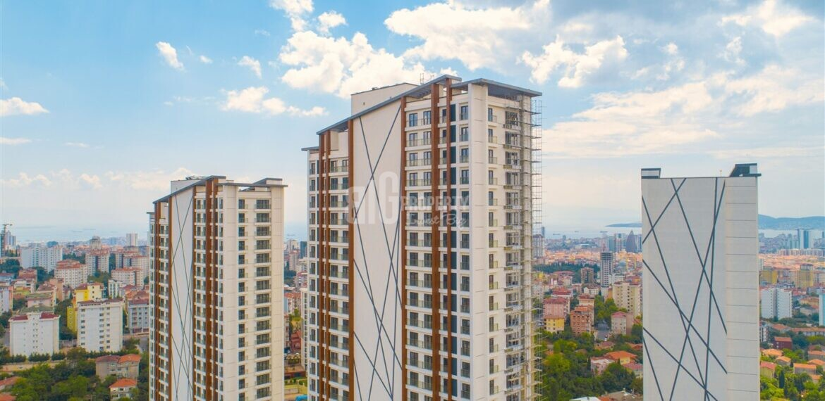 Asian Side Green turkish real estate with wonderfull sea and island view in turkey istanbul Maltepe