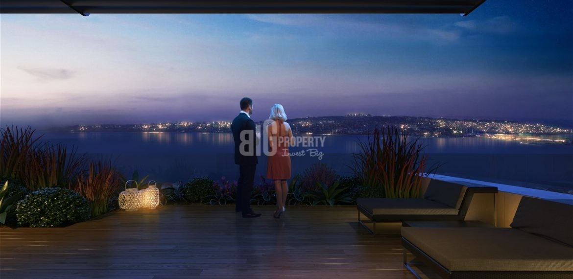 Big Terrace properties with sea view for sale Buyukcekmece İstanbul Turkey