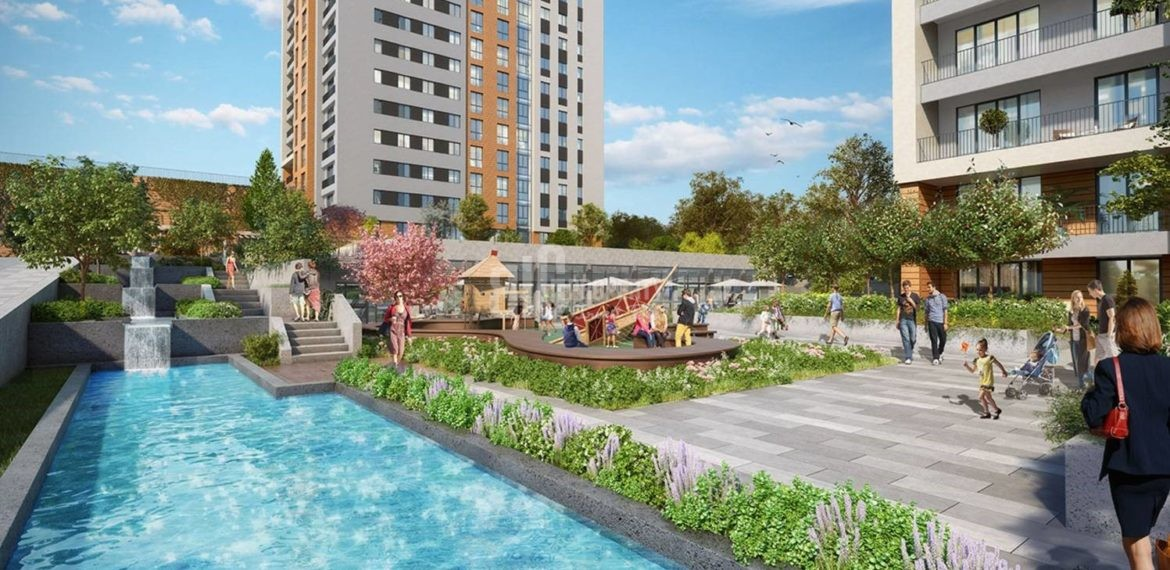 Near to Istanbul airport investing flats for sale İstanbul Bahcesehir