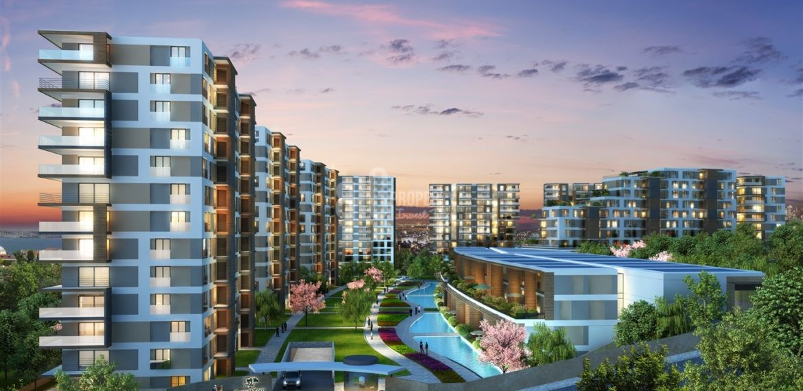 The Most Beautiful canal istanbul citizenship flats for sale in Kucukcekmece İstanbul Turkey