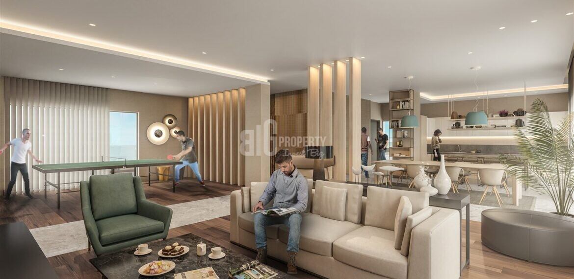 Attractive payment plan opportunity lake view city center apartments for sale Avcilar Istanbul
