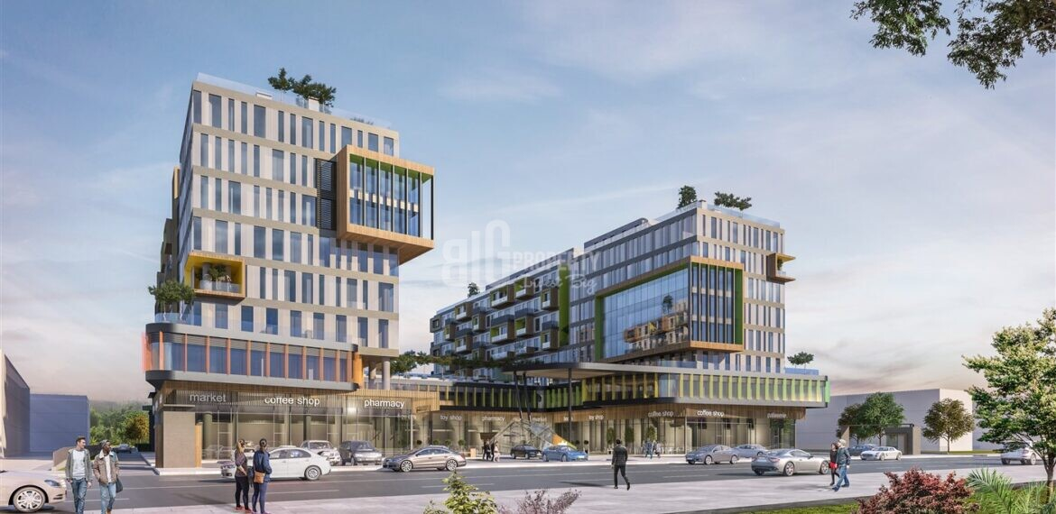Attractive payment plan opportunity lake view city center office for sale Avcilar Istanbul