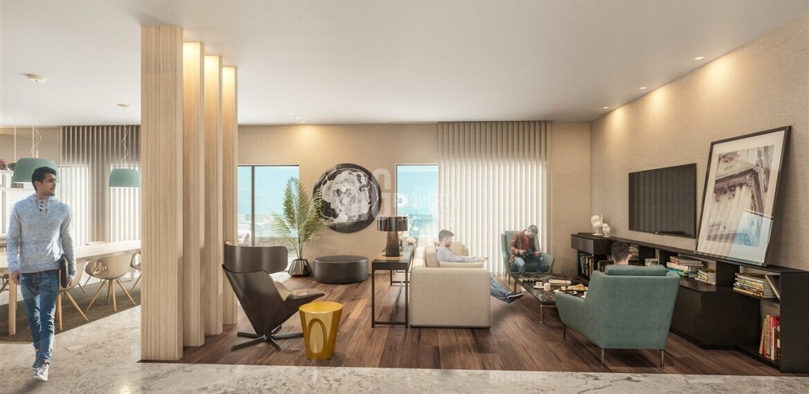 Attractive payment plan opportunity lake view city center real estate for sale Avcilar Istanbul