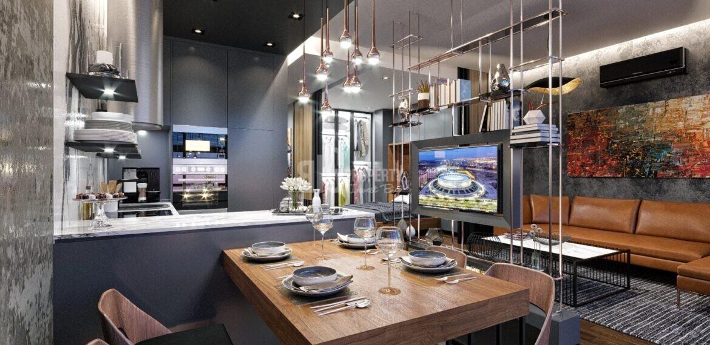 Estetic style city center citizenship properties for sale Beyoglu Istanbul