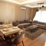 sample apartment living room in tem point project gazisomanpasa istanbul