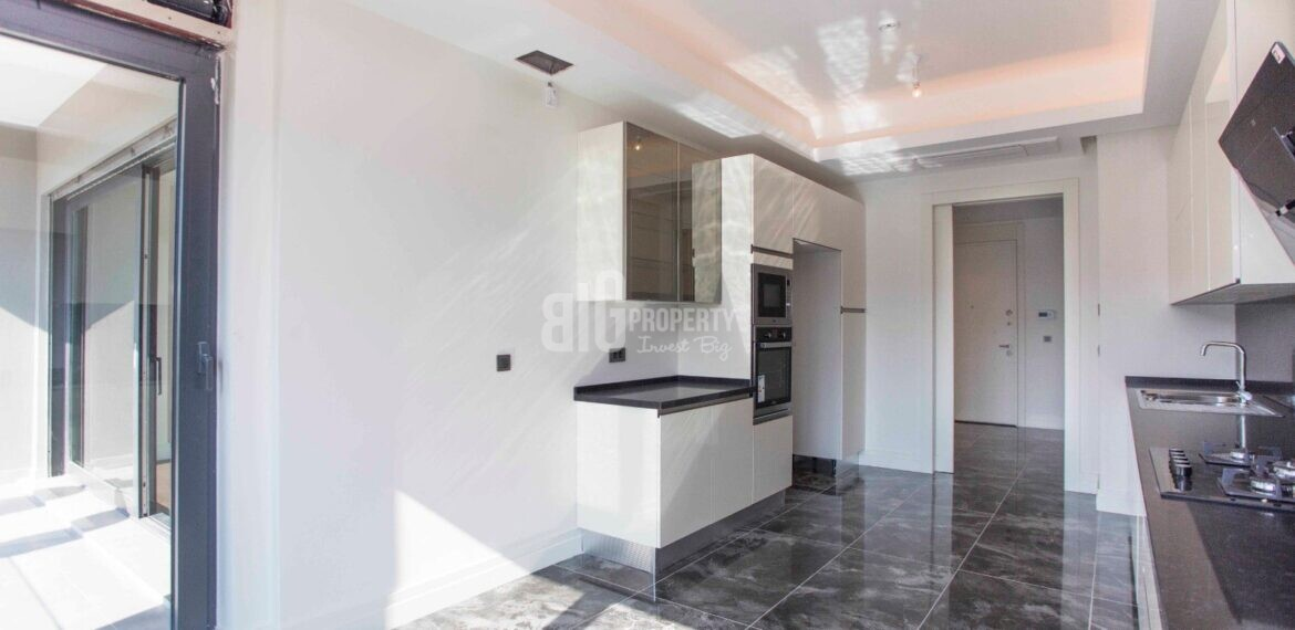 Citizenship one building apartment ready to move for sale Basaksehir Istanbul