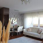 Dumankaya konsept horizontal arthitectural family apartment living room with green garden