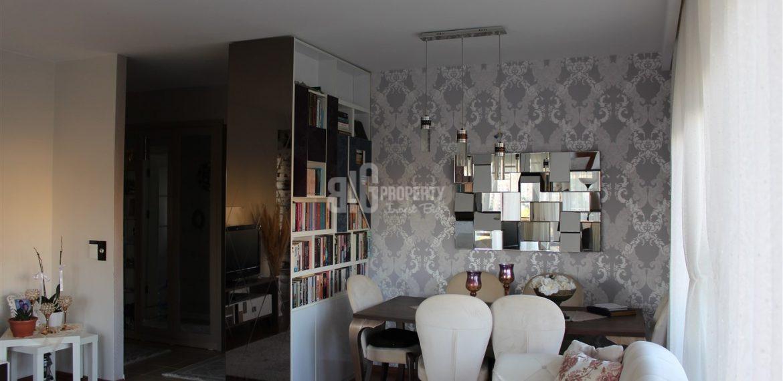 Dumankaya konsept horizontal arthitectural family flat living room with green garden