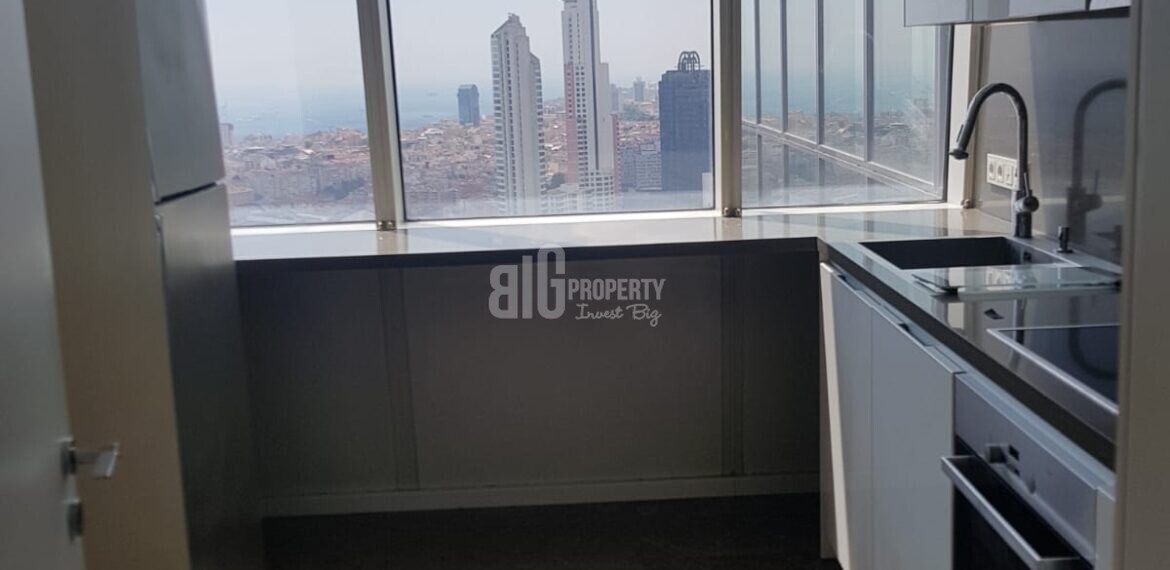 Trump Tower luxury flats kitchen for sale in istanbul citycentre