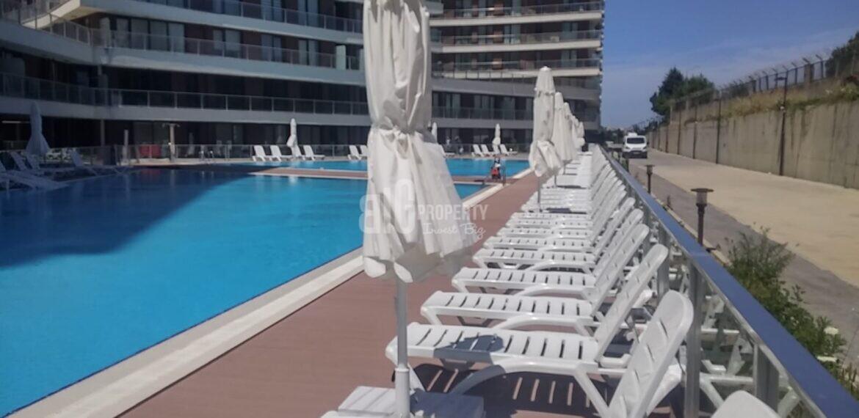 swimming pool in dumankaya modern turkish citizenship apartment